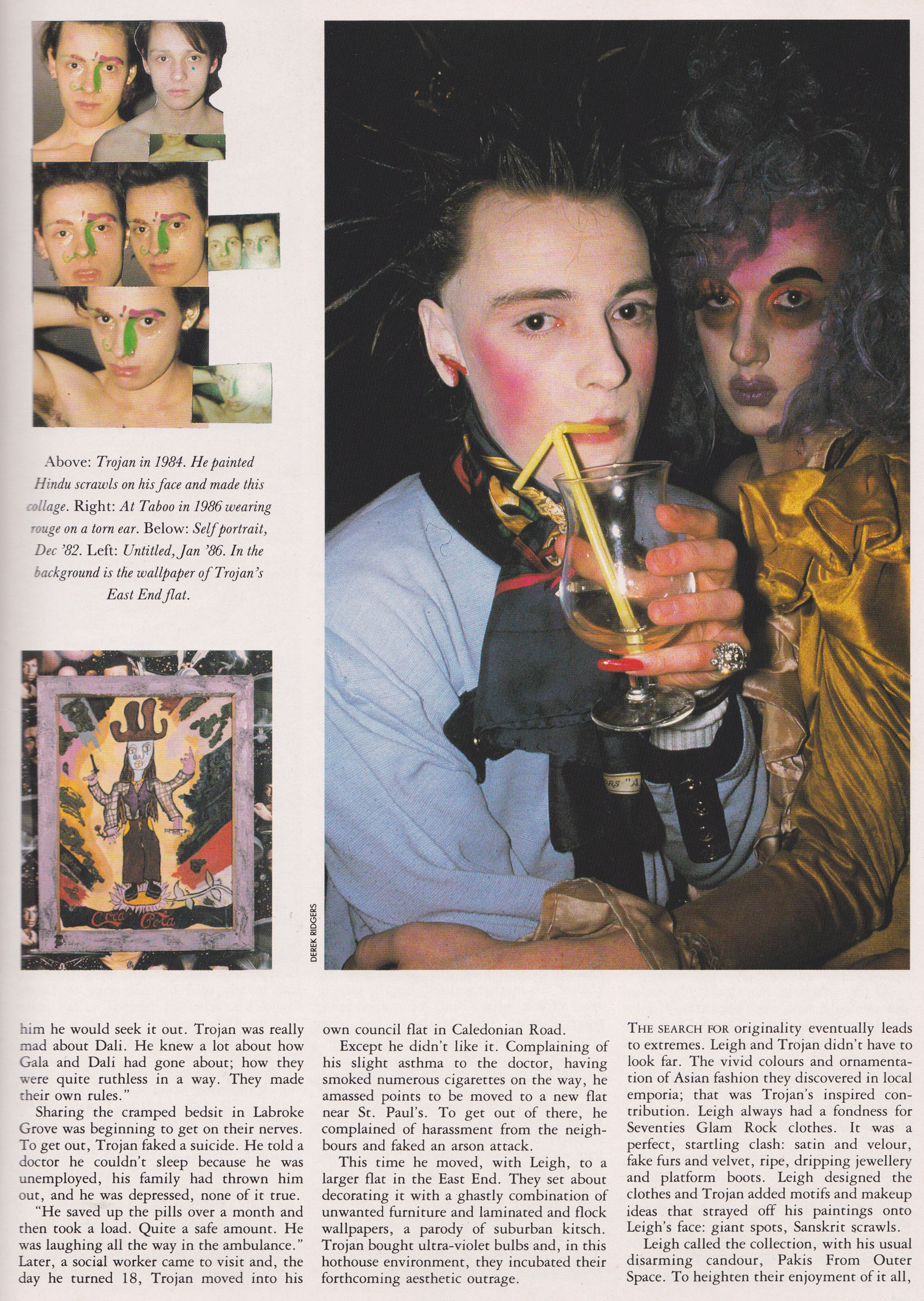 The Trojan Story, The Face, January, 1987, Leigh Bowery, Taboo,