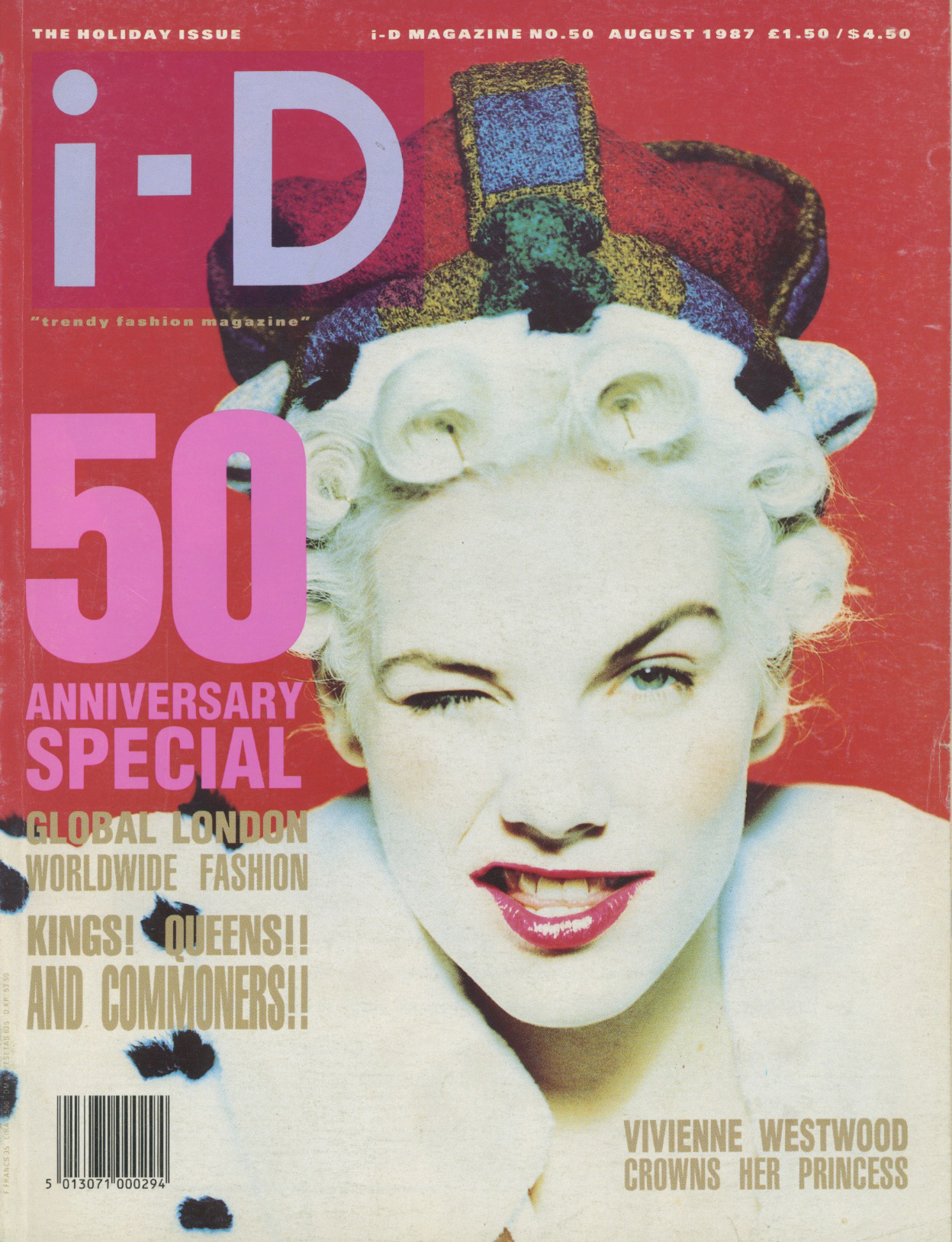 i-D, August, 1987, Magazine, Cover