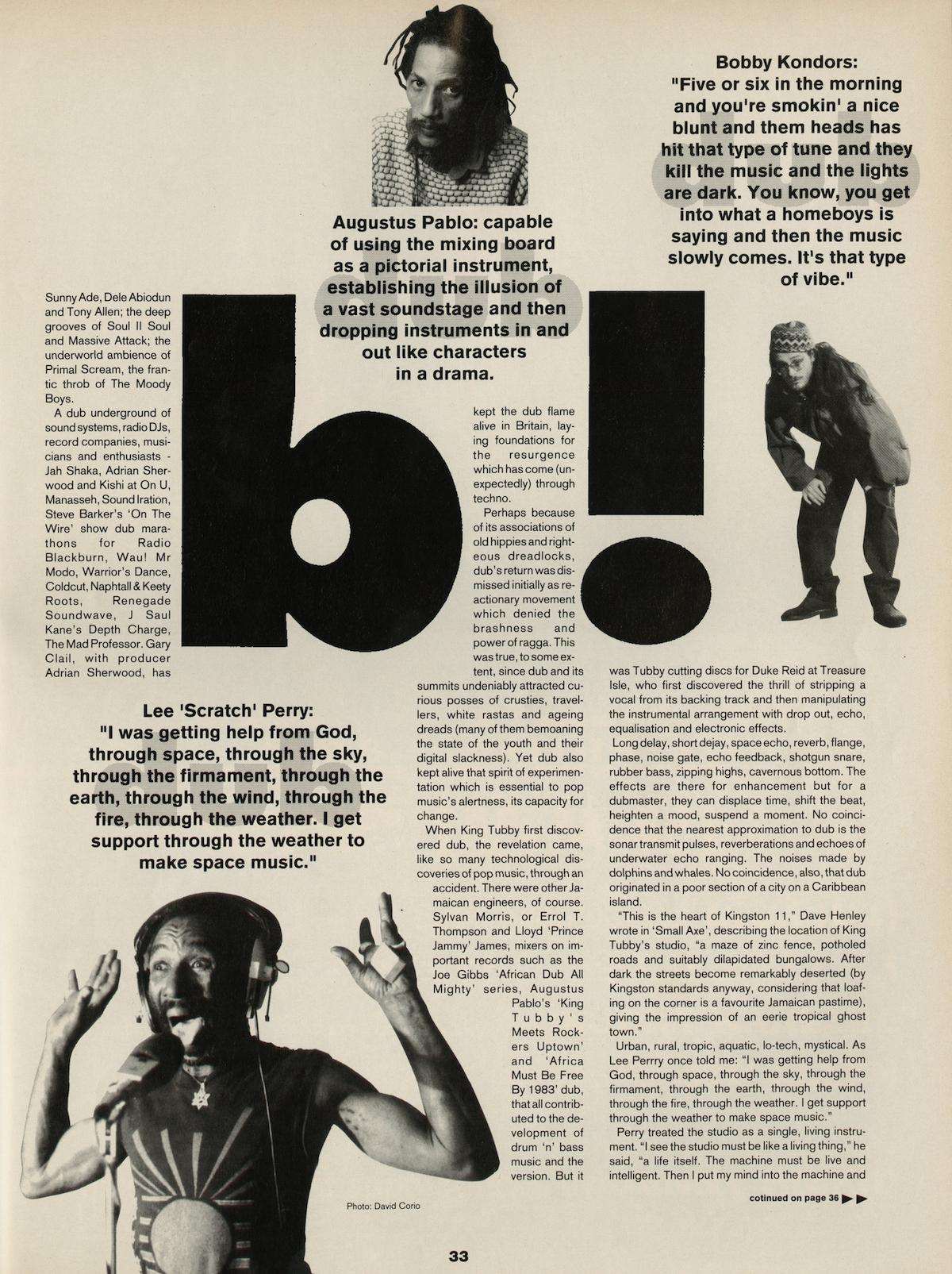 Dub, David Toop, Jah Shaka, Walter Gibbons. Adrian Sherwood, Augustus Pablo, Booby Konders, Lee Scratch Perry, Adrian Sherwood, Gary Clail